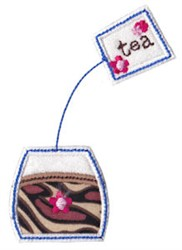 Timefor Tea Applique embroidery design