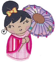 Kokeshi Doll Applique embroidery design