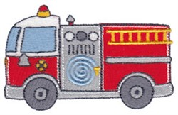 Lets Go Firetruck embroidery design