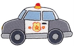 Lets Go Police Car embroidery design