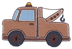 Lets Go Tow Truck embroidery design