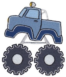 Lets Go Monster Truck embroidery design