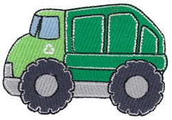 Lets Go Recycling Truck embroidery design