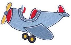 Lets Go Airplane embroidery design