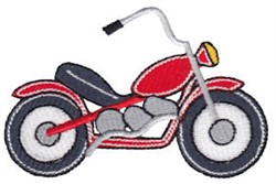 Lets Go Motorcycle embroidery design