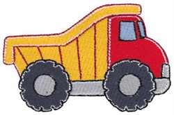 Lets Go Dump Truck embroidery design
