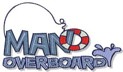 Man Overboard embroidery design