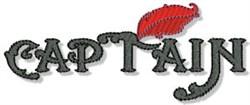 Captain Nautical Sentiment embroidery design