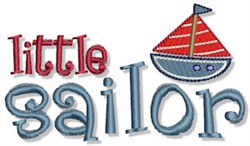 Little Sailor Nautical Sentiment embroidery design