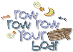 Row Your Boat Nautical Sentiments embroidery design