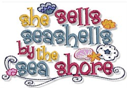Seashells Nautical Sentiments embroidery design