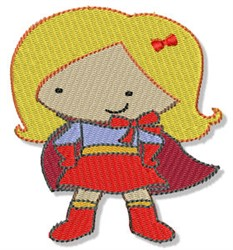 Superheroine embroidery design