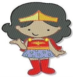 Superhero embroidery design