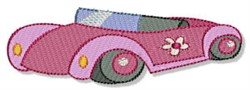 Superhero Car embroidery design