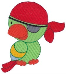 Pirates Life Parrot embroidery design