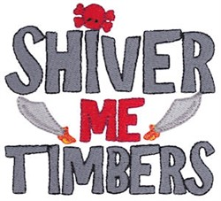 Pirates Life Shiver Me Timbers embroidery design