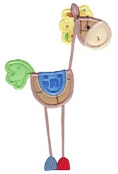 Stick Horse Applique embroidery design