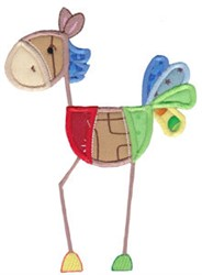 Patchy Horse Applique embroidery design