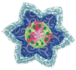 Raggedy Flower Applique embroidery design