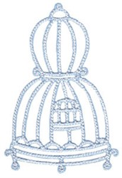 Tweet Thing Cage embroidery design
