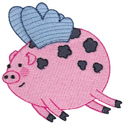 When Pigs Fly embroidery design