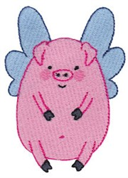 A Flying Pig embroidery design