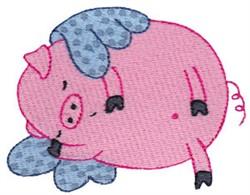 Sleepy Flying Pig embroidery design