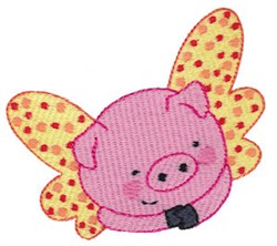 Cute Flying Pig embroidery design