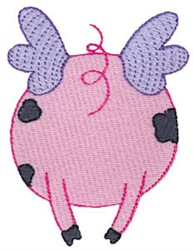 Flying Pig Tail embroidery design
