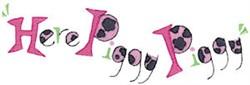 Here Piggy Piggy embroidery design