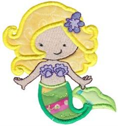 Blonde Magical Mermaid Applique embroidery design