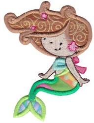 Cute Mermaid Applique embroidery design