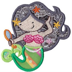 Fancy Mermaid Applique embroidery design