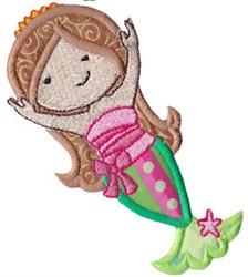 Magical Mermaid Applique embroidery design