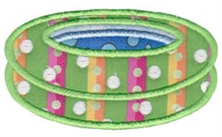 Inflatable Pool Applique embroidery design