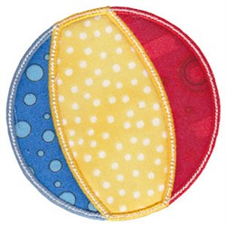 Beach Ball Applique embroidery design