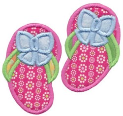 Pink Flip Flops Applique embroidery design