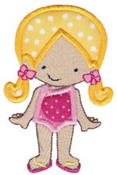 Swimmer Girl Applique embroidery design