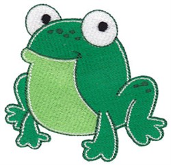 Cute Little Frog embroidery design