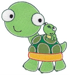 Turtle & Frog Friends embroidery design