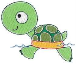 Swimming Turtle embroidery design
