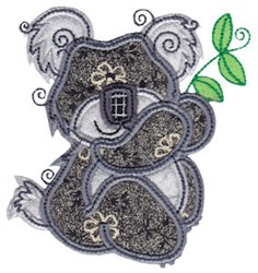 Aussie Koala Applique embroidery design