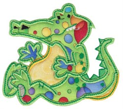 Aussie Alligator Applique embroidery design