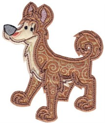 Aussie Dingo Applique embroidery design