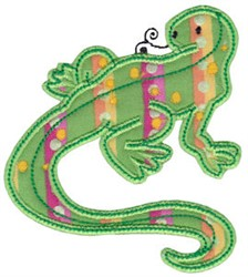 Aussie Komodo Dragon Applique embroidery design