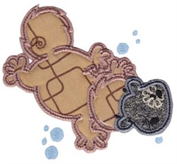 Aussie Platypus Applique embroidery design