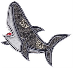Aussie Shark Applique embroidery design
