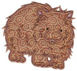 Aussie Wombat Applique embroidery design