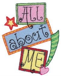 All About Me! embroidery design
