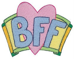 Be My BFF embroidery design